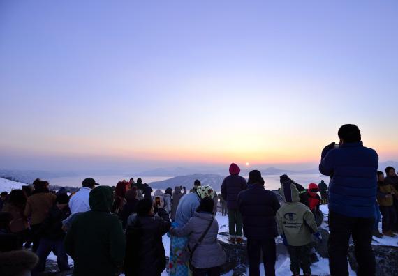 美幌峠 初日の出フェスティバル